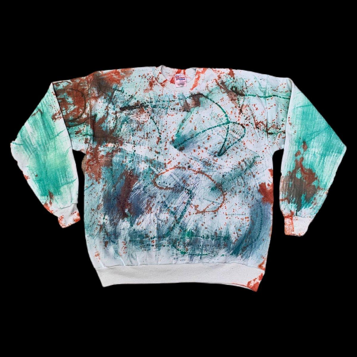 Vintage 90's Tie Dyed Crewneck Sweatshirt!! XL