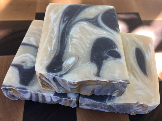 Image of Sandalwood Amber Goat Milk Soap with Silk