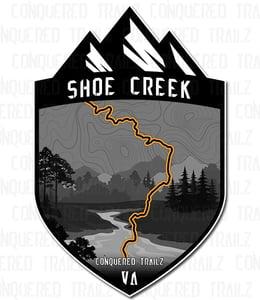 "Image of ""Shoe Creek"" Trail Badge"