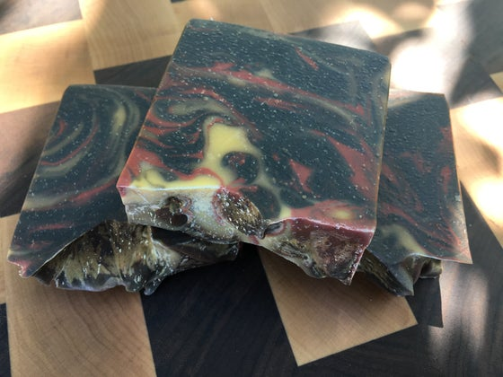 Image of Dragon Fire Goat Milk Soap with Silk