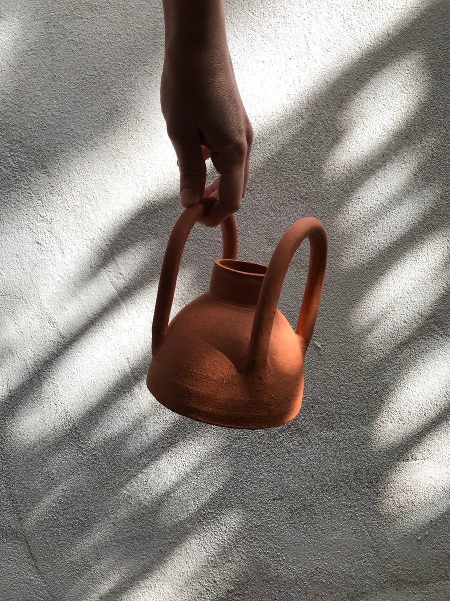 Image of Terracotta Vase w. Handles
