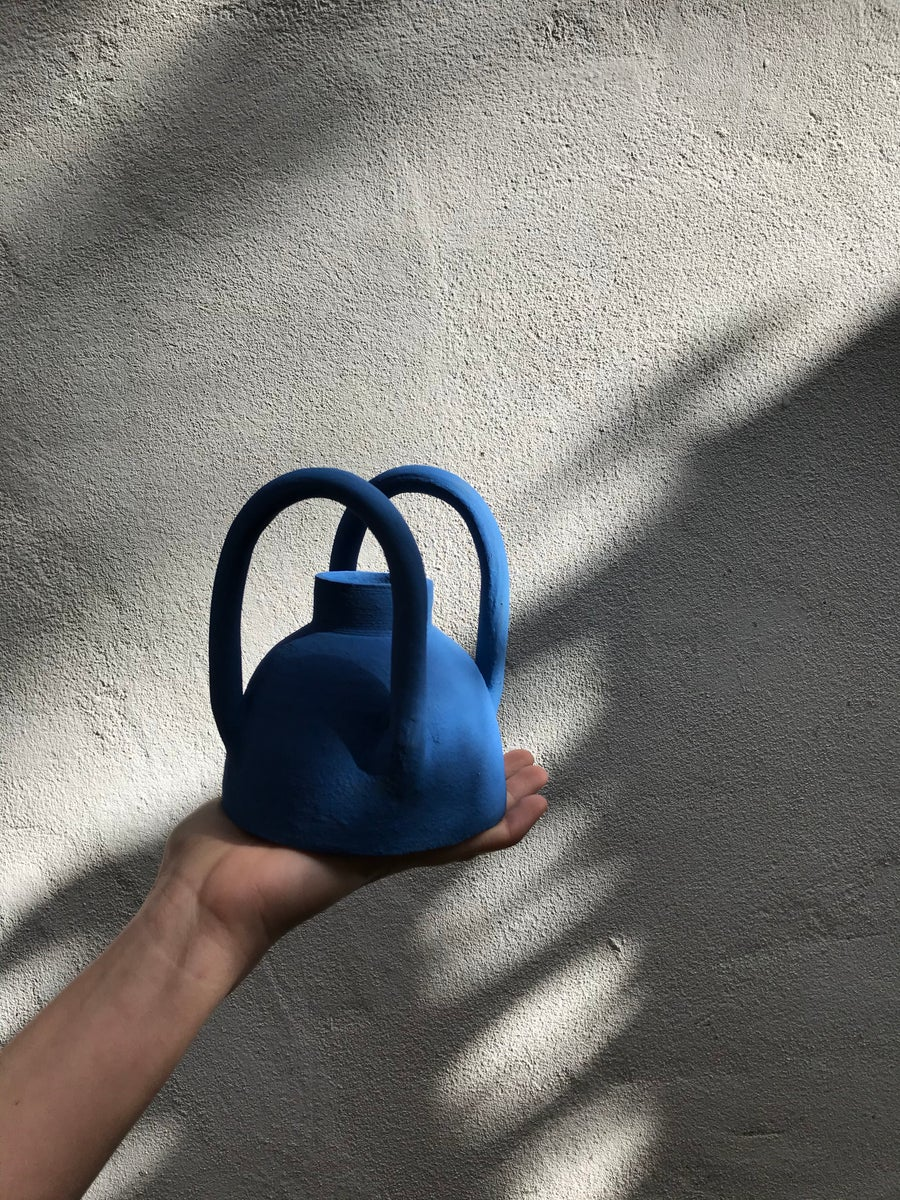 Image of Blue Vase w. Handles