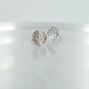 Image of PJ5549 - 14ct white gold pave set stud earrings