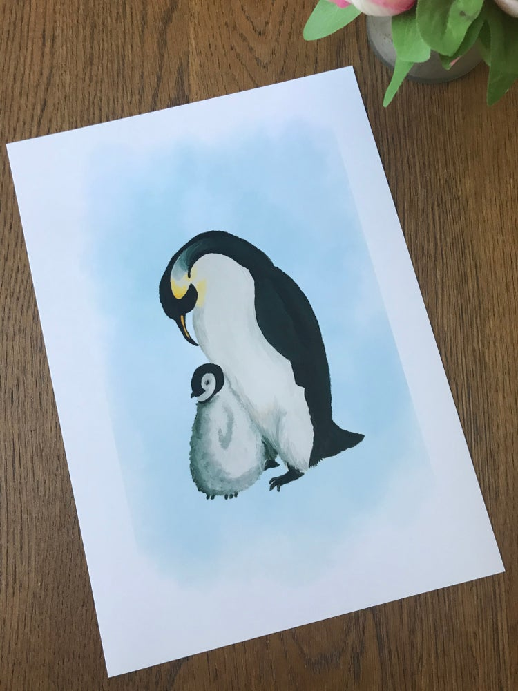 Image of Penguin & Child Art Print