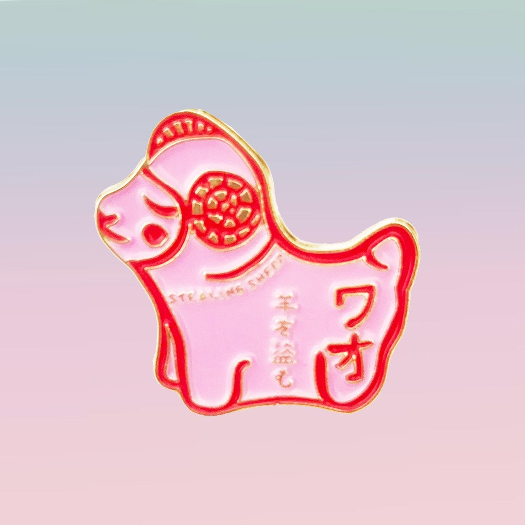 Image of KAWAII  ワオ ENAMEL PIN BADGE