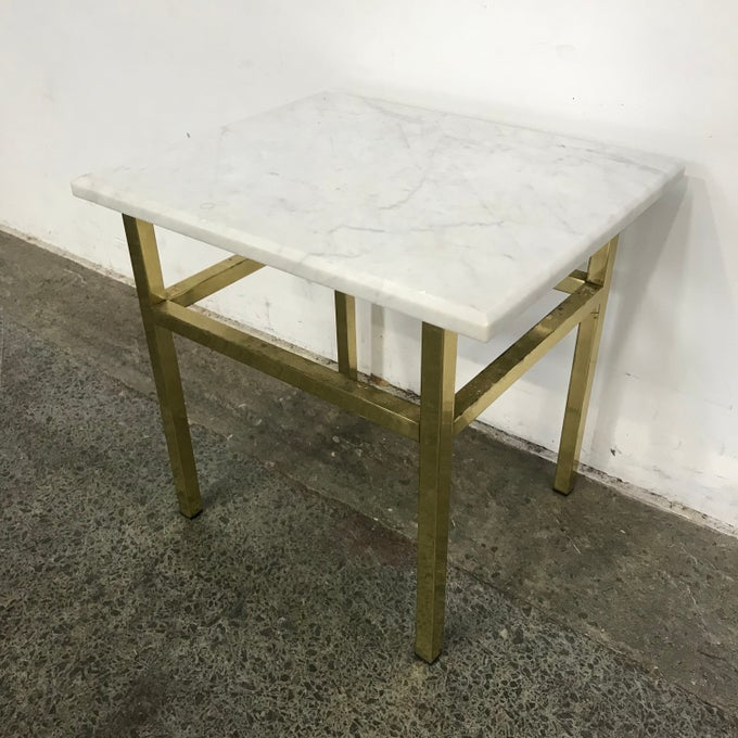 Image of MARBLE SIDE TABLE