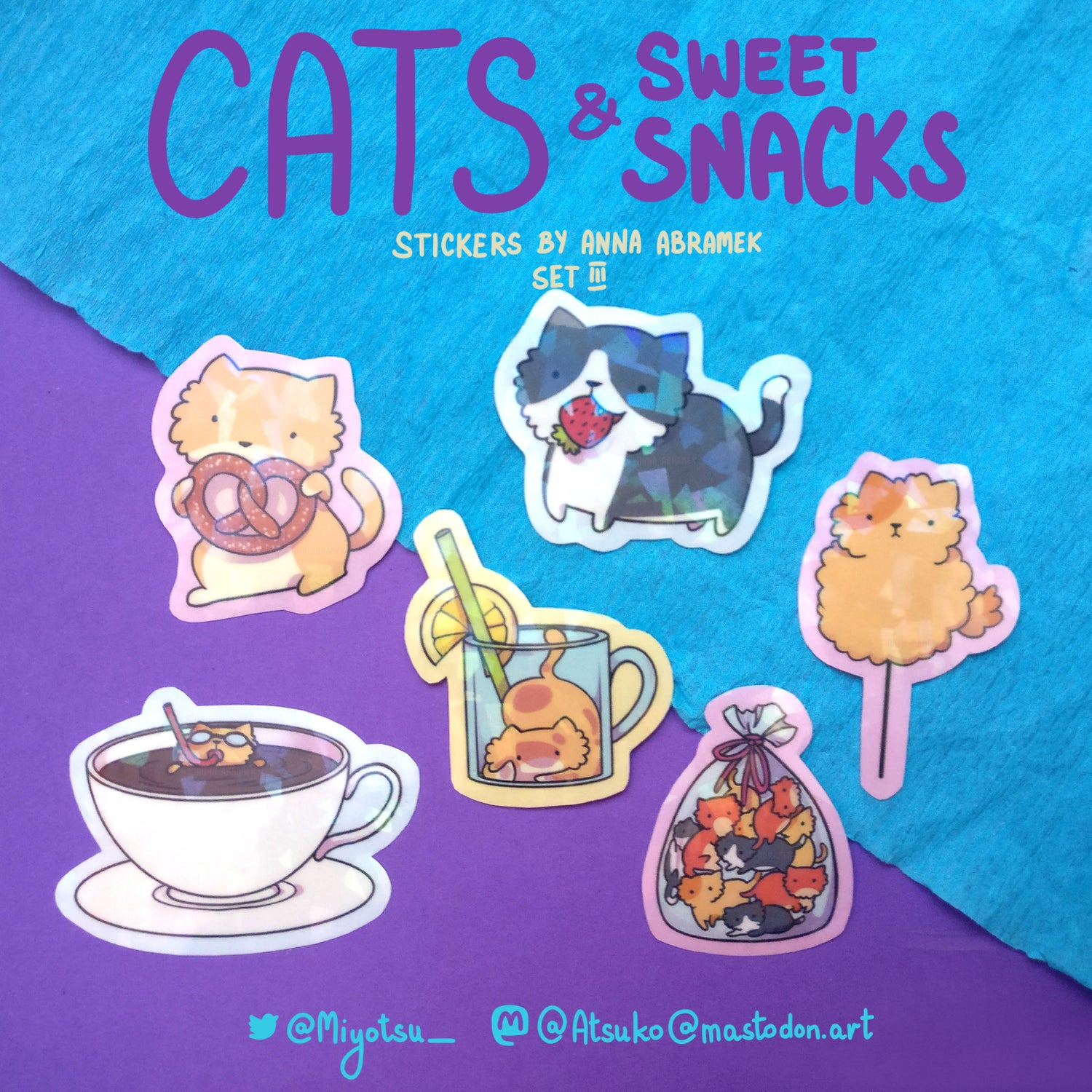 cats and sweet snacks stickers