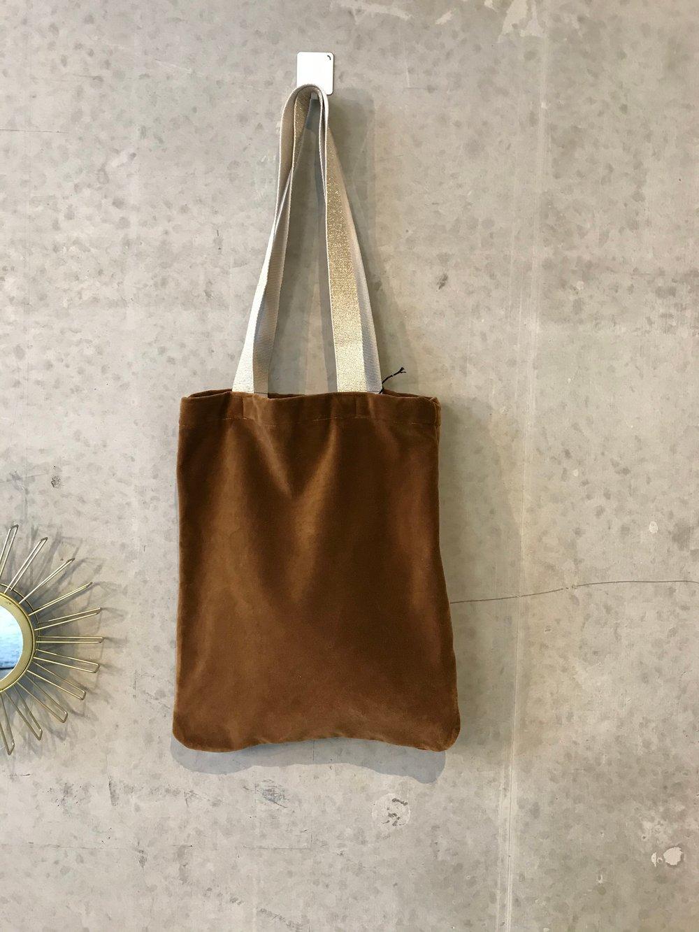 Image of Caramel velvet tote bag