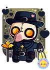 Kawaii Plague Doctor A5 Print
