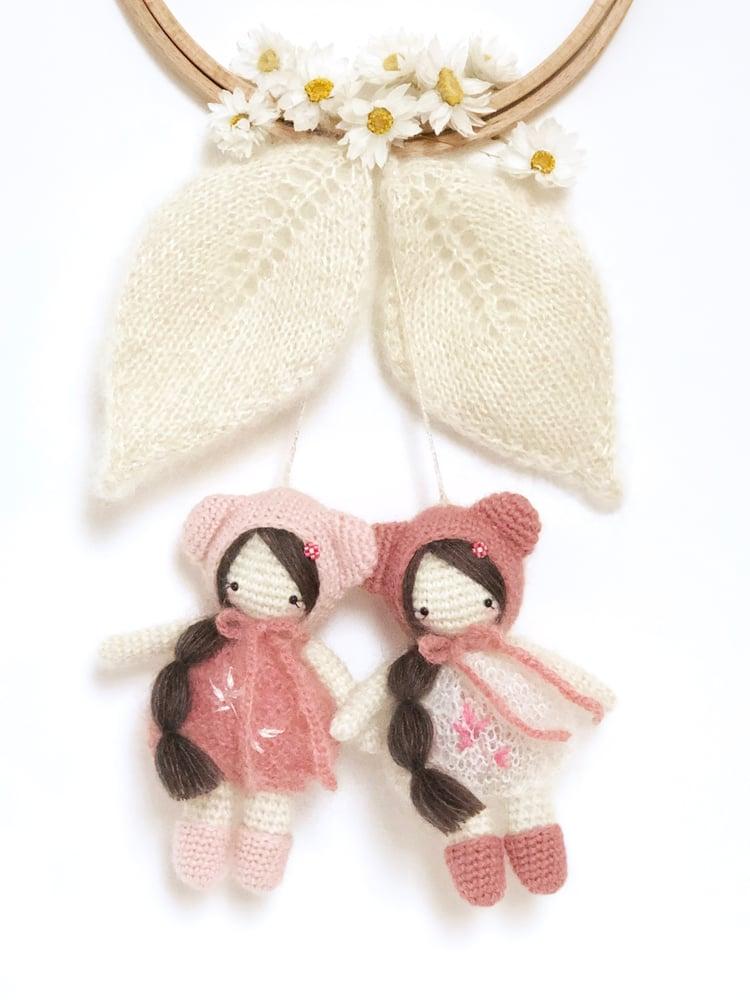 Image of Duo Mini Pom' LES CERISETTES (nuances rosées)