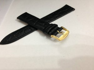Image of A LOT OF 10 x LONGINES,QUALITY CROC LEATHER SLIM STRAPS,18MM,20MM,BLACK,BROWN,