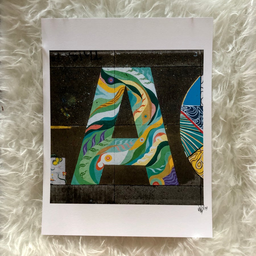 Image of The Letter A Print