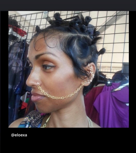 Image of The goddess faux nose ring Chain/ear cuff