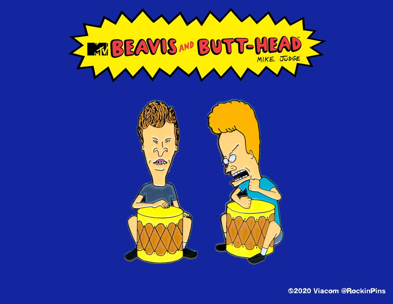 Image of Beavis and Butt-Head - Bongo Pin Set
