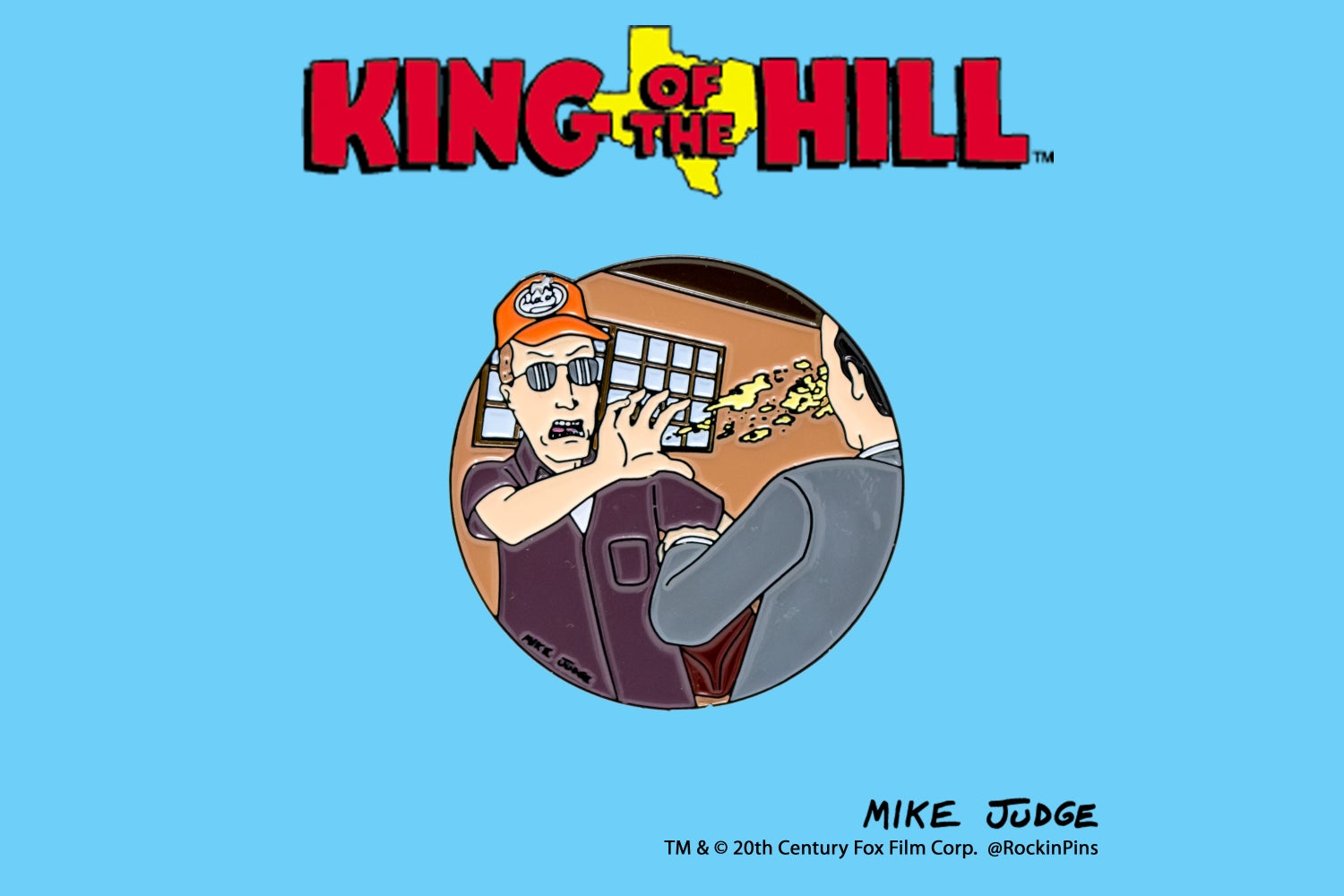 Image of King of the Hill - Dale Gribble Pocket Sand Enamel Pin