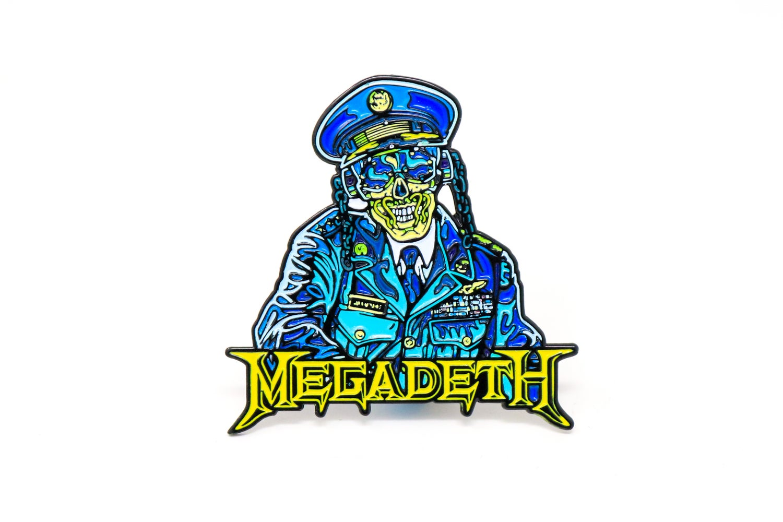 Image of Megadeth - General Vic Rattlehead Enamel Pin