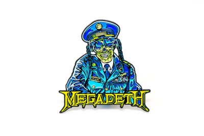 Image of Megadeth - General Vic Rattlehead Enamel Pin