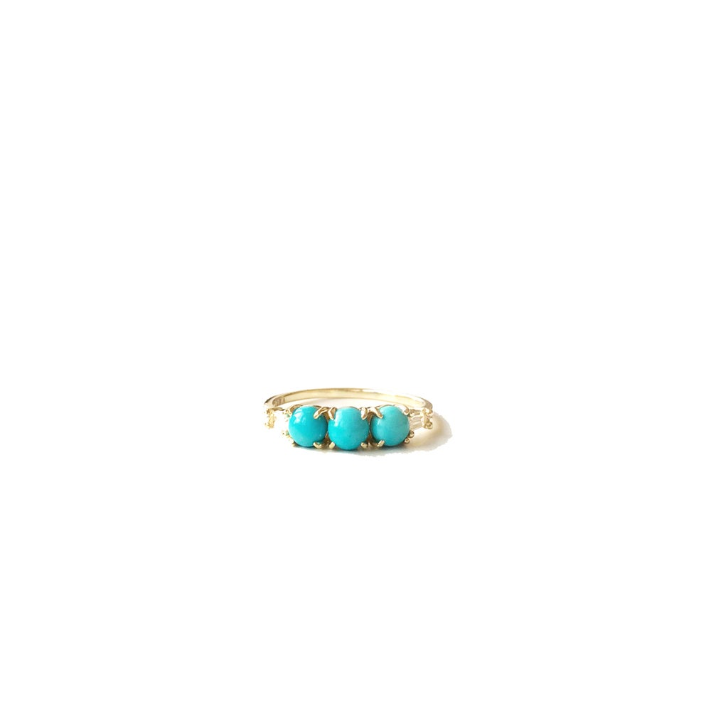 Image of Deco Turquoise Band Ring