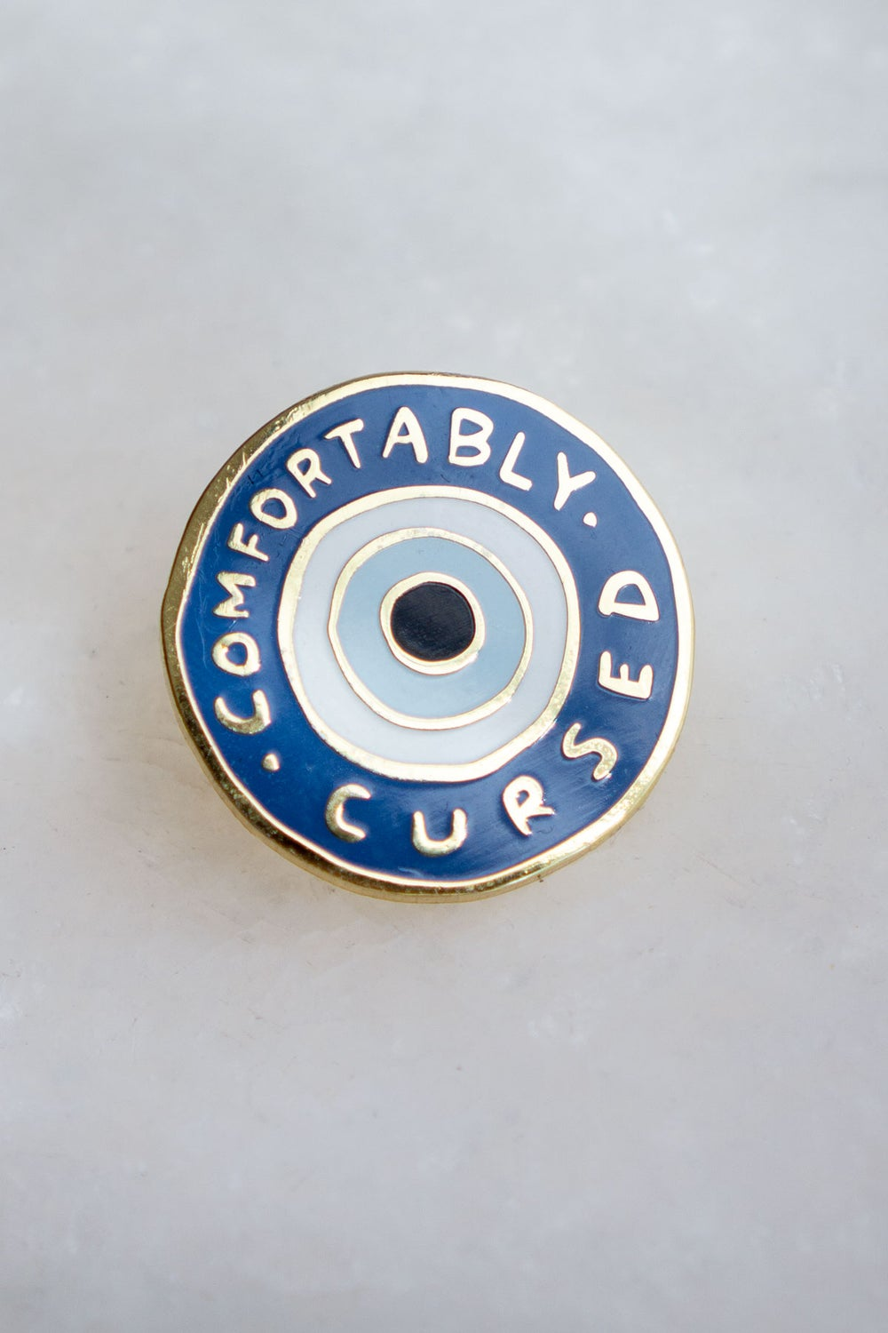Comfortably Cursed (Stay Home Club) Enamel Pin