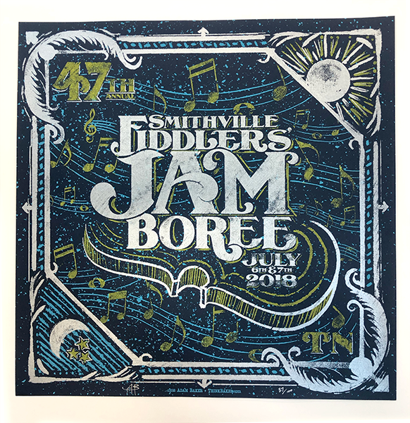 47th Annual Smithville Fiddlers' Jamboree Screenprint Poster