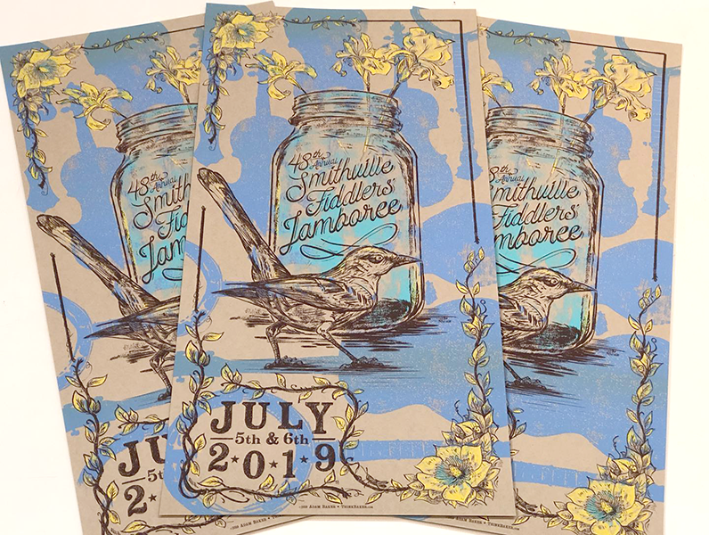 48th Annual Smithville Fiddlers' Jamboree Screenprint Poster
