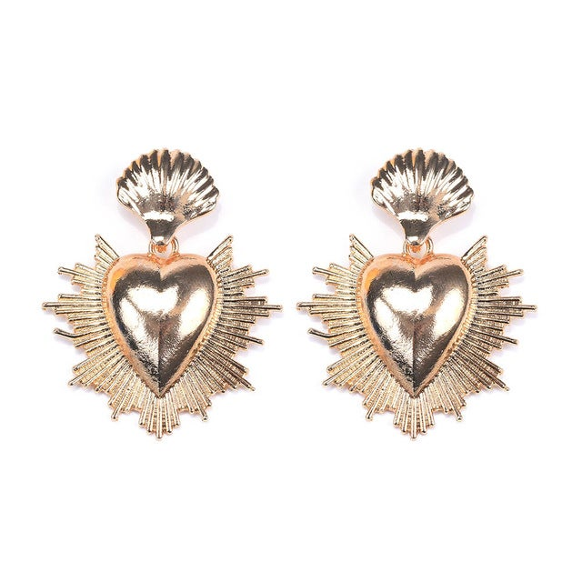 Image of Sacred heart statement earrings