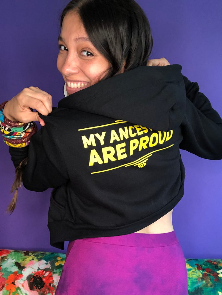 Image of women's cropped hoodie
