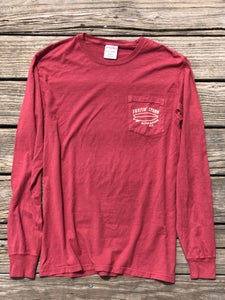 Image of NEW // Long Sleeve Pocket Tee - Red