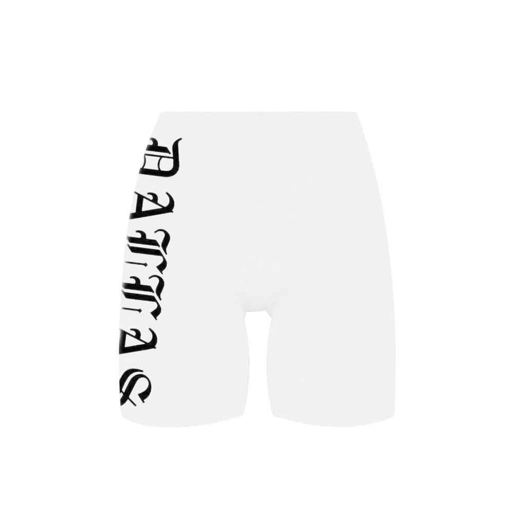 Image of Dallas White Bike Shorts