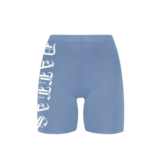 Image of Dallas Denim Blue Bike Shorts
