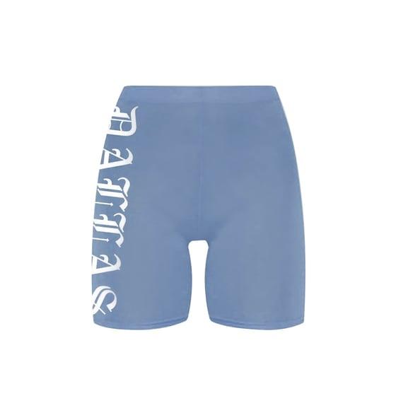 Image of Dallas Denim Blue Bike Shorts