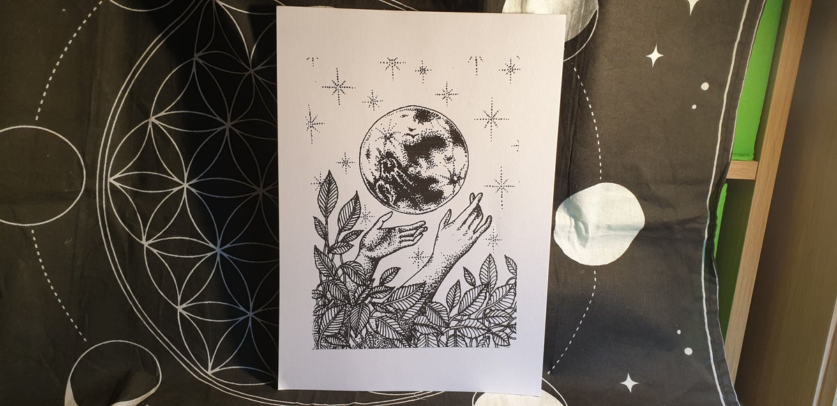 "Image of ""Lunar Caress"" Illustration Print"