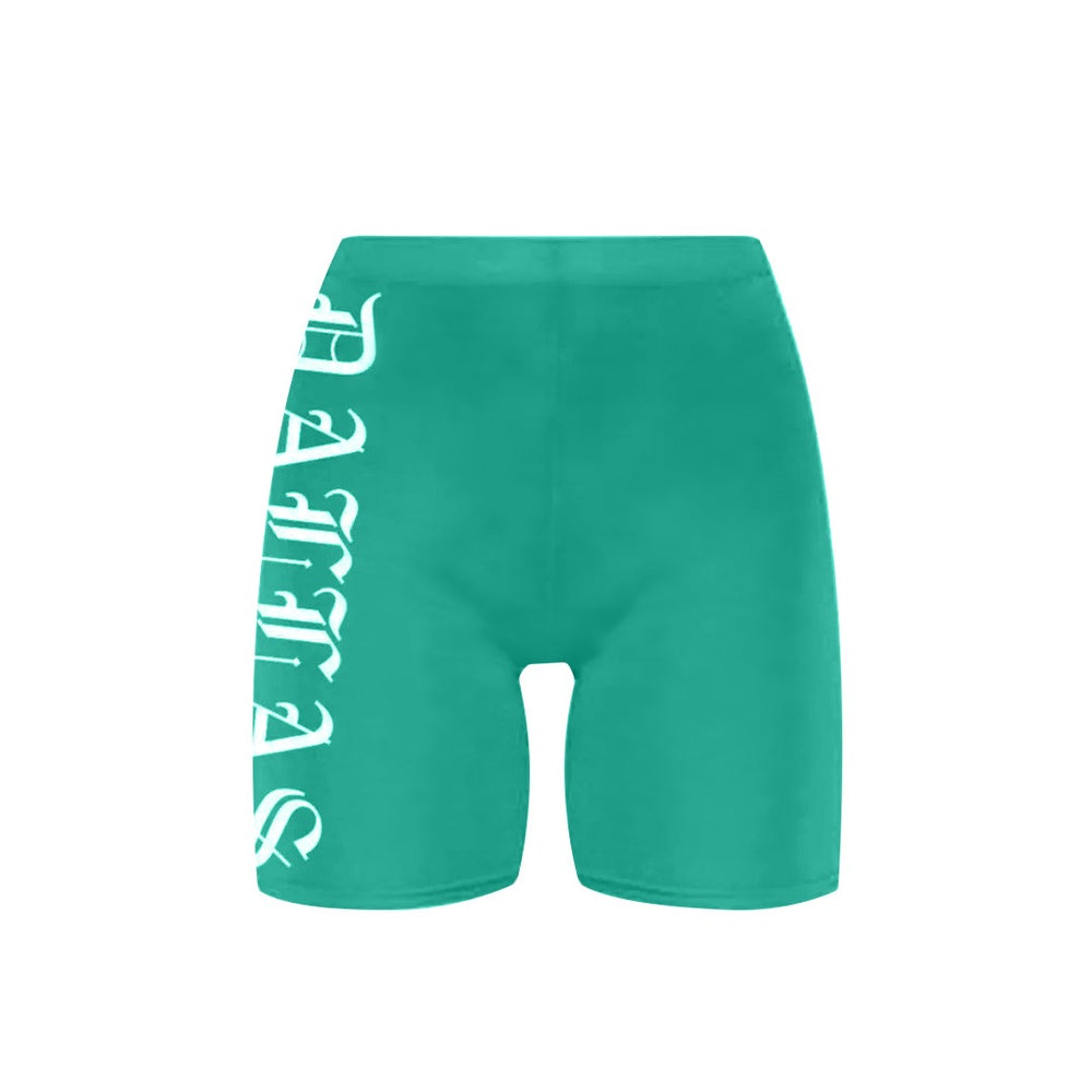 Image of Dallas Teal Bike Shorts