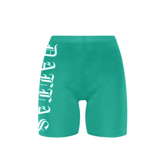 Image of Dallas Teal Bike Shorts