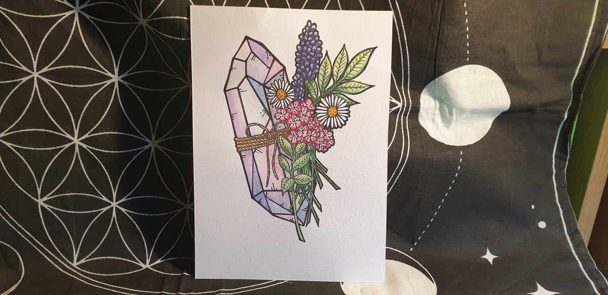 "Image of ""Floral Gem"" Illustration Print"