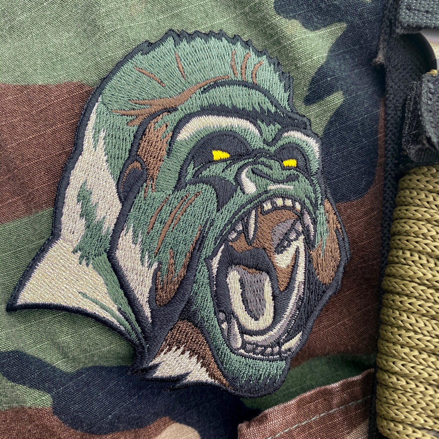 Image of Woodland Camo Silverback Patch