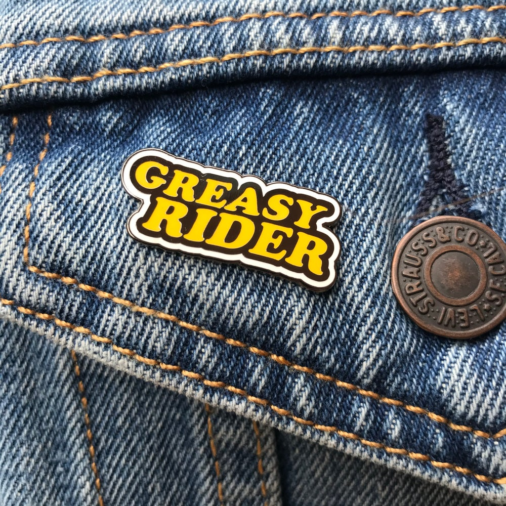 Image of Greasy Rider Enamel Pin