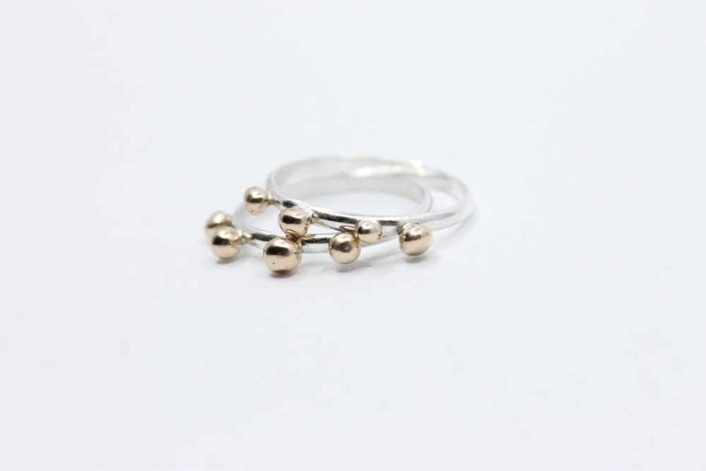 Image of Silver + Bronze Ring | .925 Sterling Silver Ring