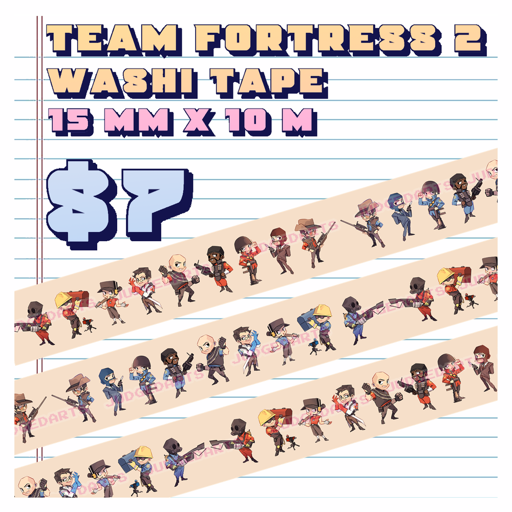 Image of Team Fortress 2 Washi Tape