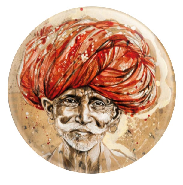 "Image of Magnet - ""Pemaram au turban rouge"""