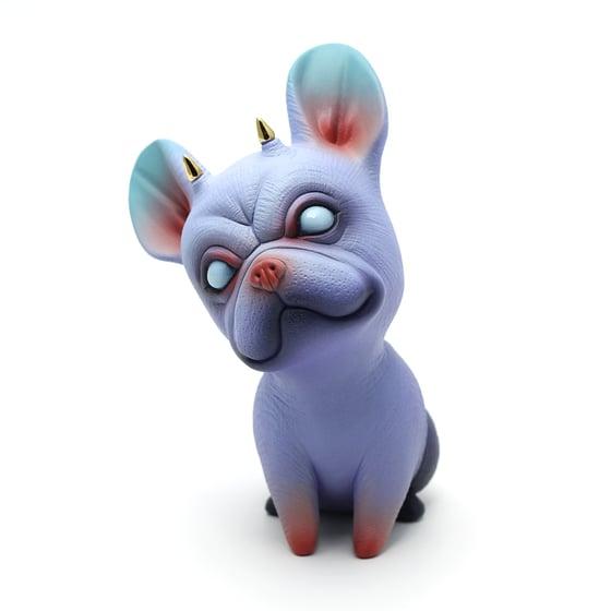 Image of Chikkoi Frenchie (purple/gold horns/mini body)