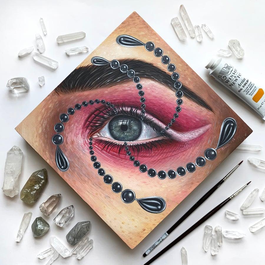 Image of 'Lovers Eye' Original Oil Painting