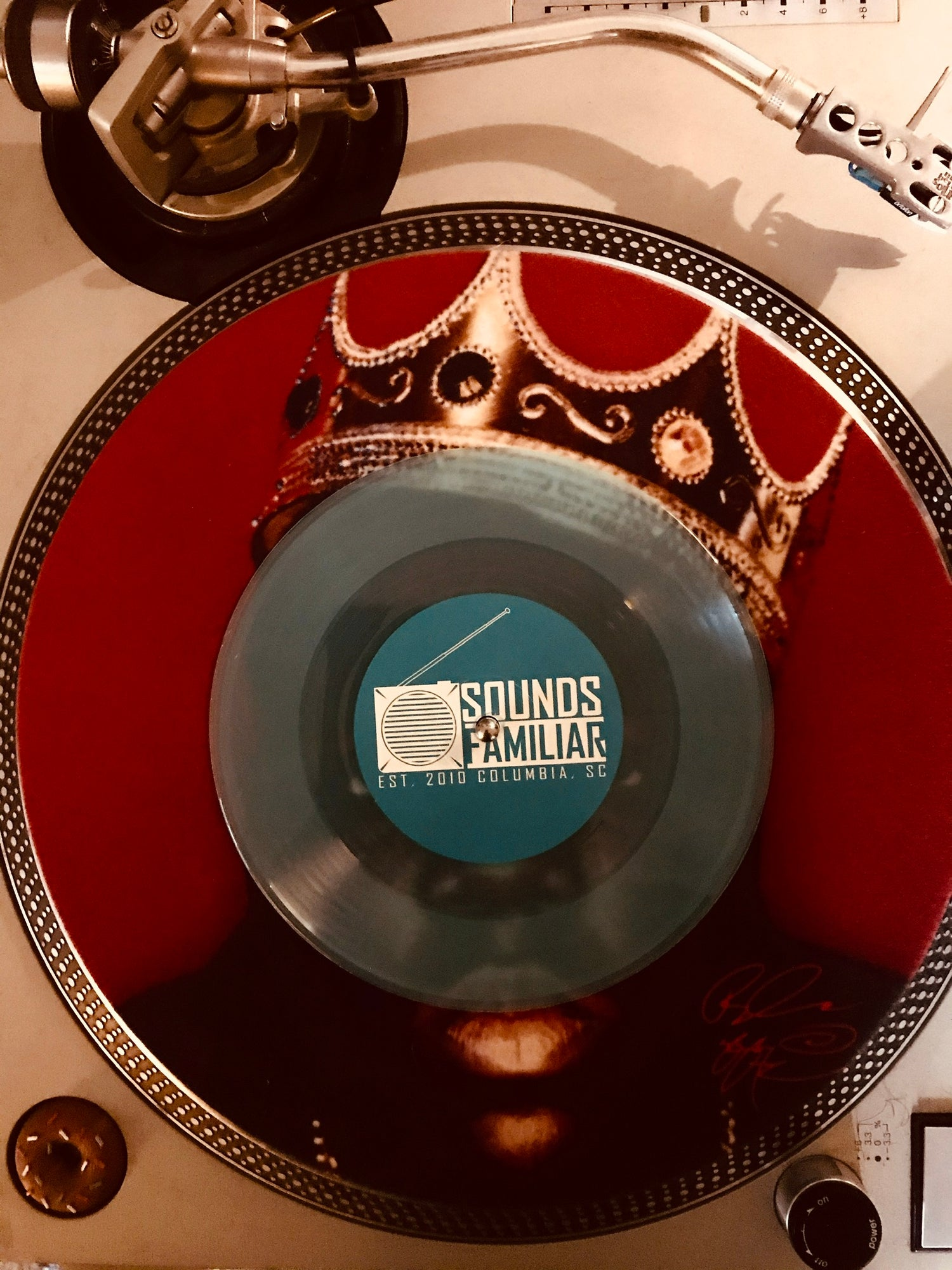 """Image of Analog (Preach Jacobs & Dose) - Baptized/She Know the Words T (7"""" - Exclusive Blue Vinyl)"""