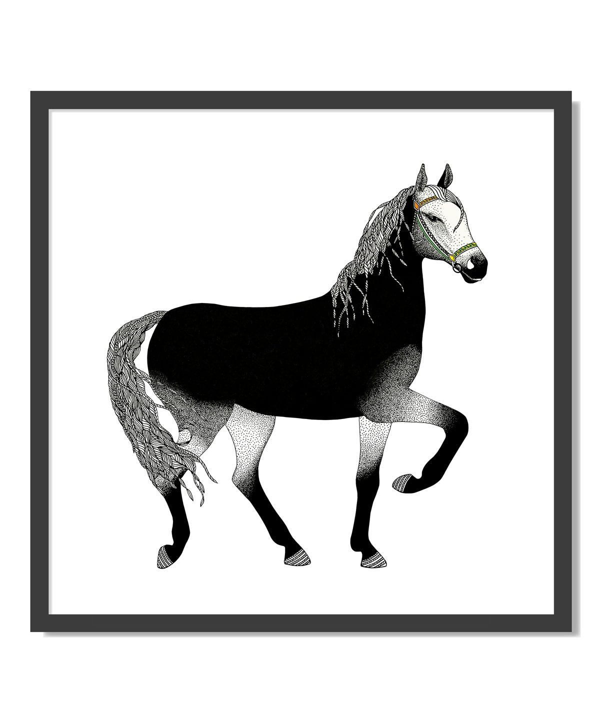 Image of Print: Black Horse