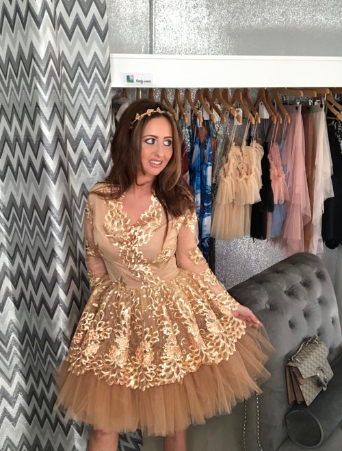 Image of Gold Birthday Prom Dress