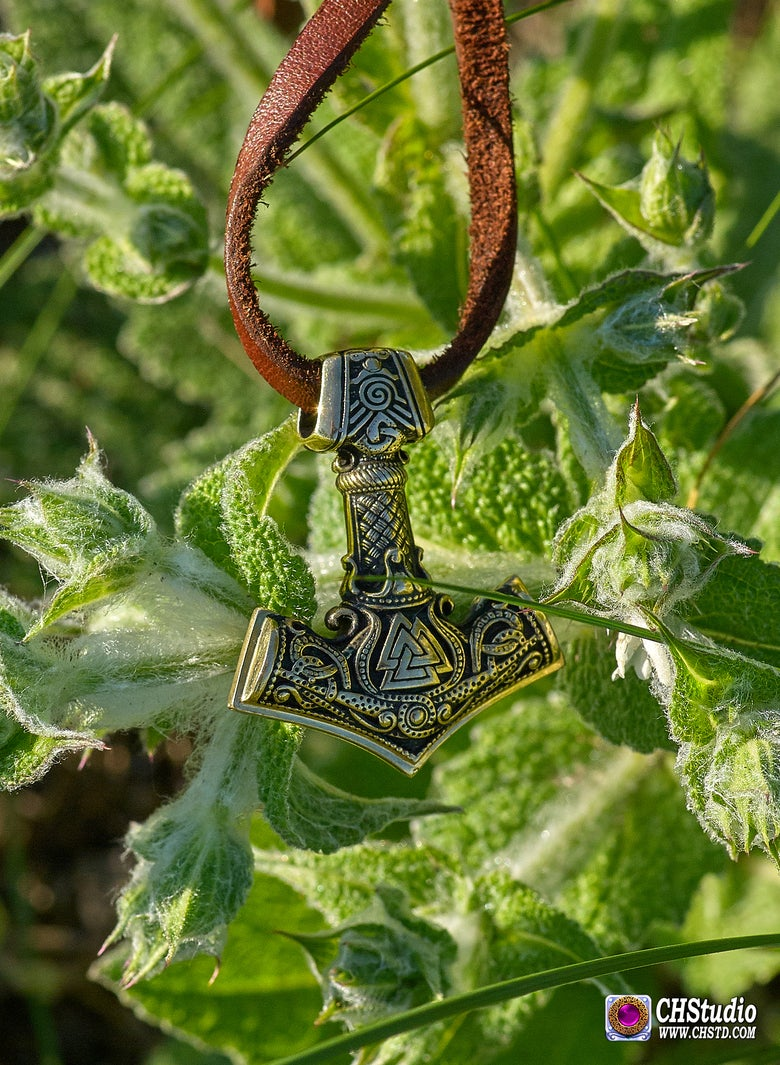 Image of MJOLNIR with Valknut :: in 3 sizes (King size - $100.00, Middle size - $59.50, Mini size - $29.50 )