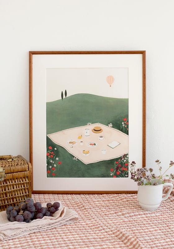 Image of Desayuno en la hierba - 30x40 cm
