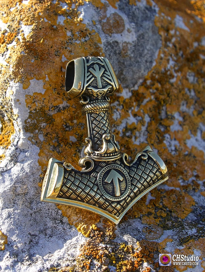 MJOLNIR with Valknut :: in 3 sizes (King size - $100.00, Middle size - $59.50, Mini size - $29.50 )