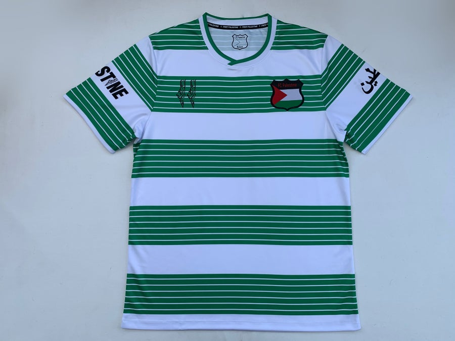 Image of Palestine Green Hooped Shirt