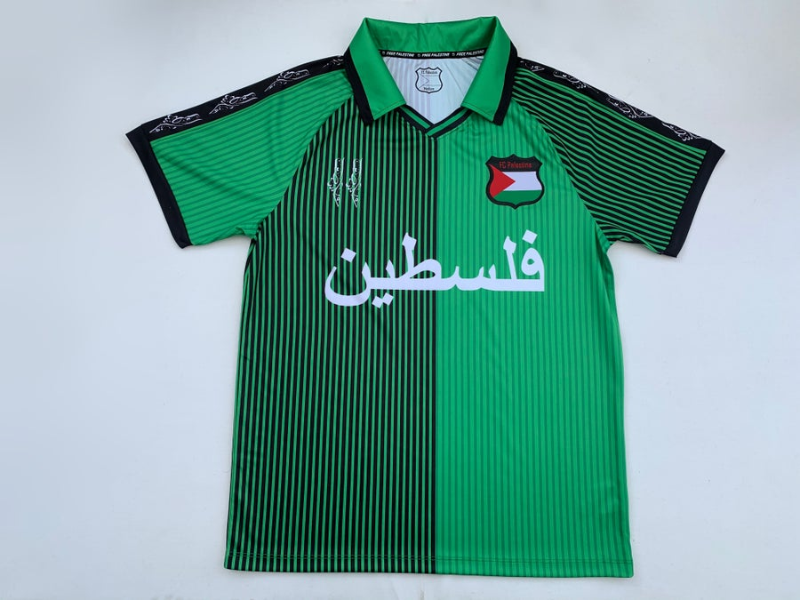 Image of Palestine Green (Denmark) Retro Football Shirt